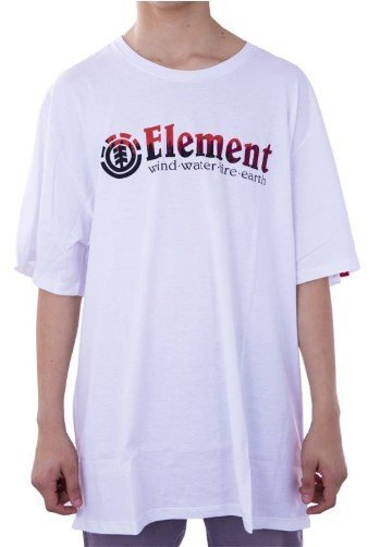 CAMISETA ELEMENT GLIMPSE HORIZONTAL PLUS SIZE BRANCO EL01G061601