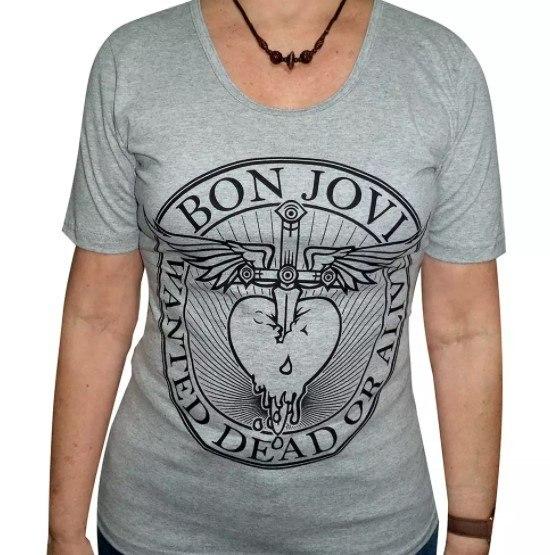 Camiseta Feminina Bon Jovi