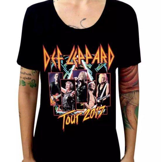 Camiseta Feminina Def Leppard - Tour
