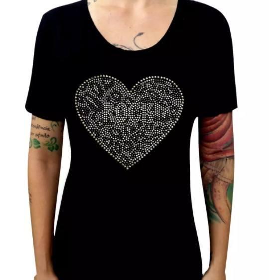 Camiseta Feminina Rock Heart