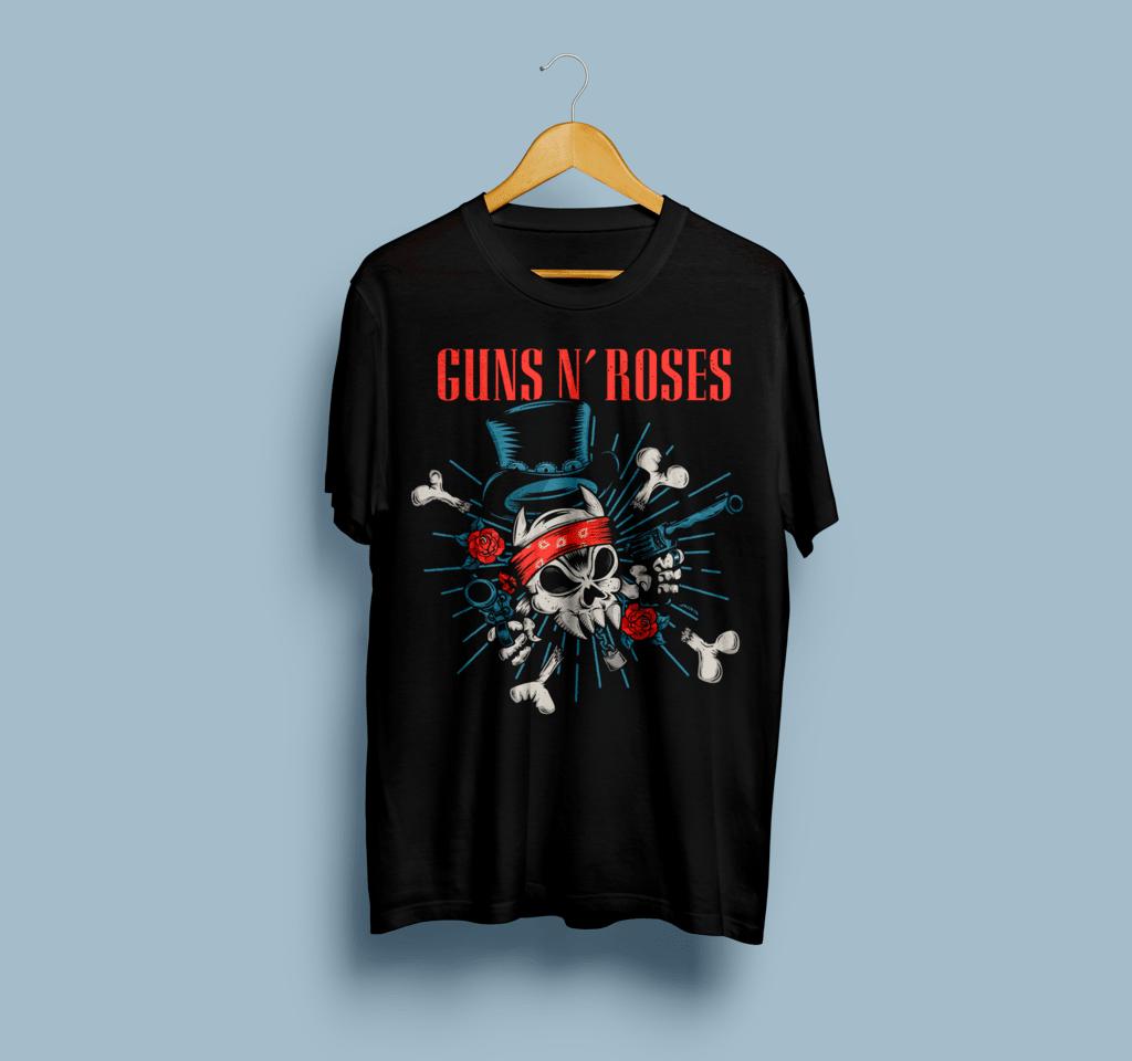 Camiseta Guns N Roses - Vortex
