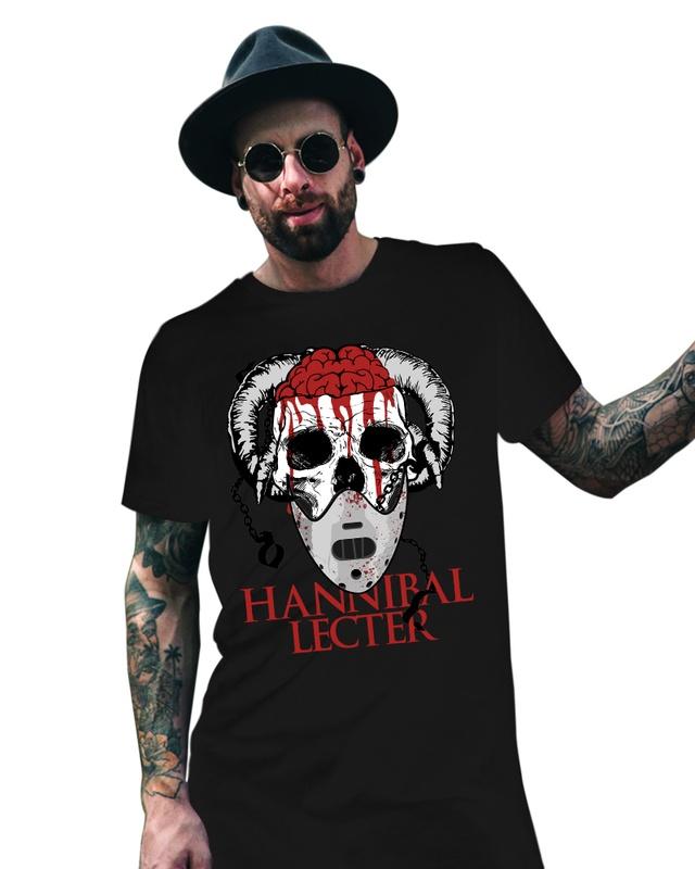Camiseta Unissex Hannibal Lecter Skull - eFull Camisetas