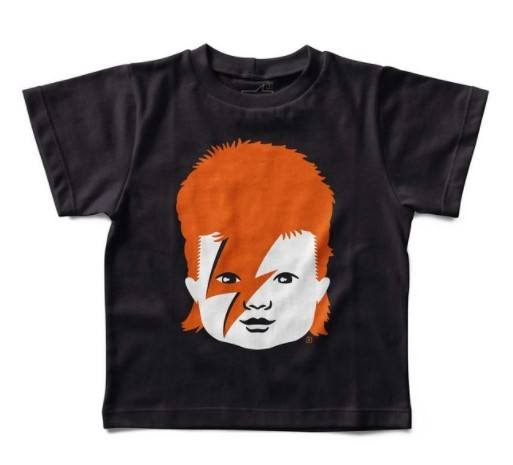 Camiseta Infantil David Bowie Baby, Let's Rock Baby