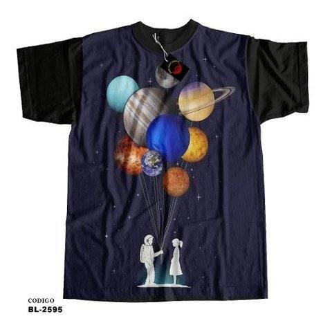 Camiseta infantil Planetas Balao Amor