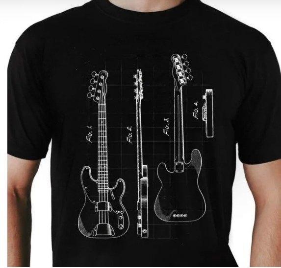 Camiseta unissex Instrumentos Baixo
