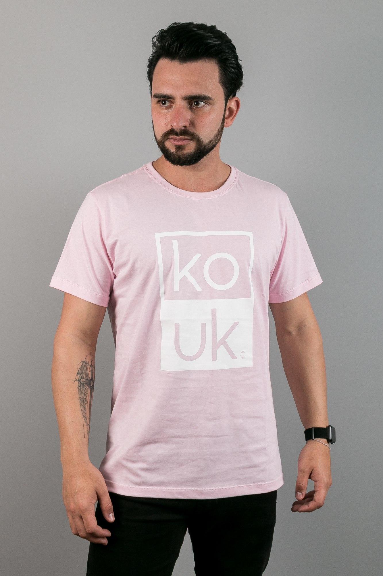 Camiseta Kouk Rosa - Retângular
