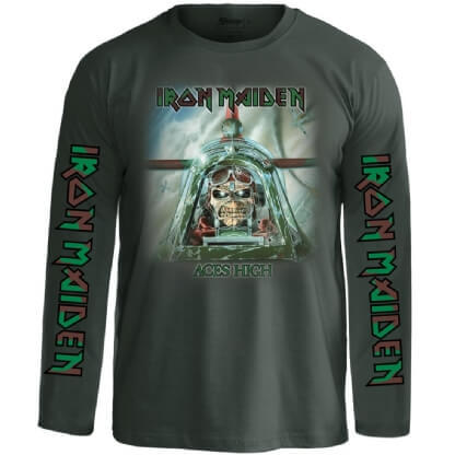 Camiseta Manga Longa IRON MAIDEN – Aces High