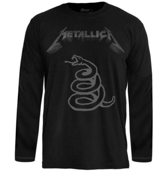Camiseta Manga Longa Metallica – Black Álbum