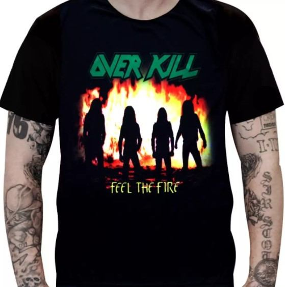 Camiseta Overkill - Feel the Fire