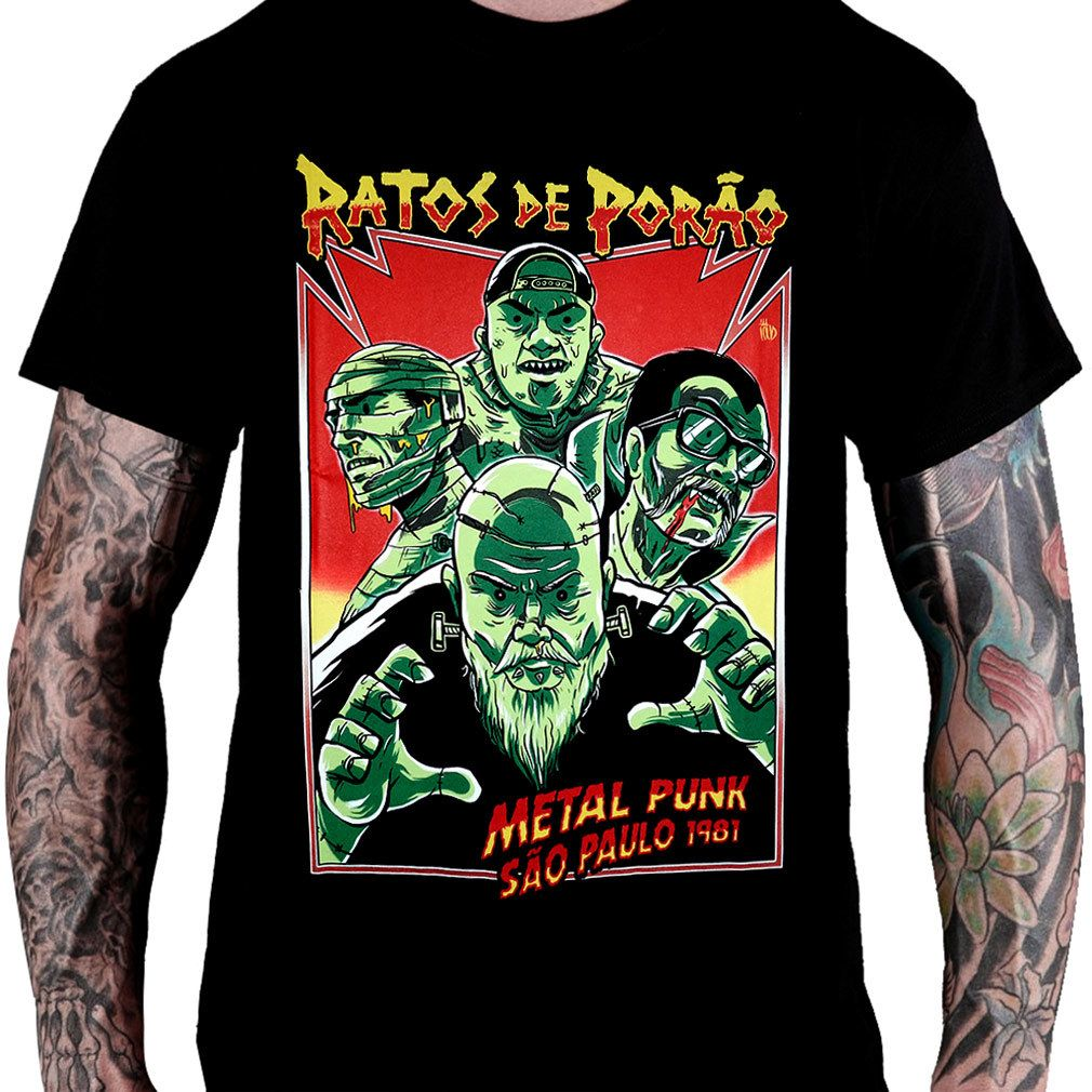 Camiseta RATOS DE PORÃO – Metal Punk SP