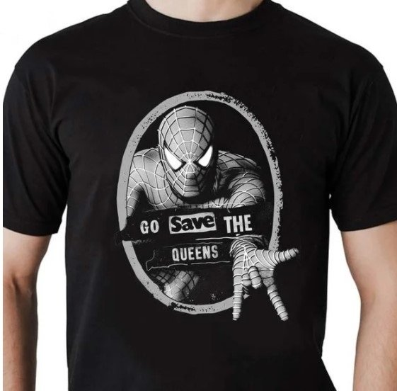 Camiseta Unissex Sex Pistols Homem Aranha Go Save The Queens