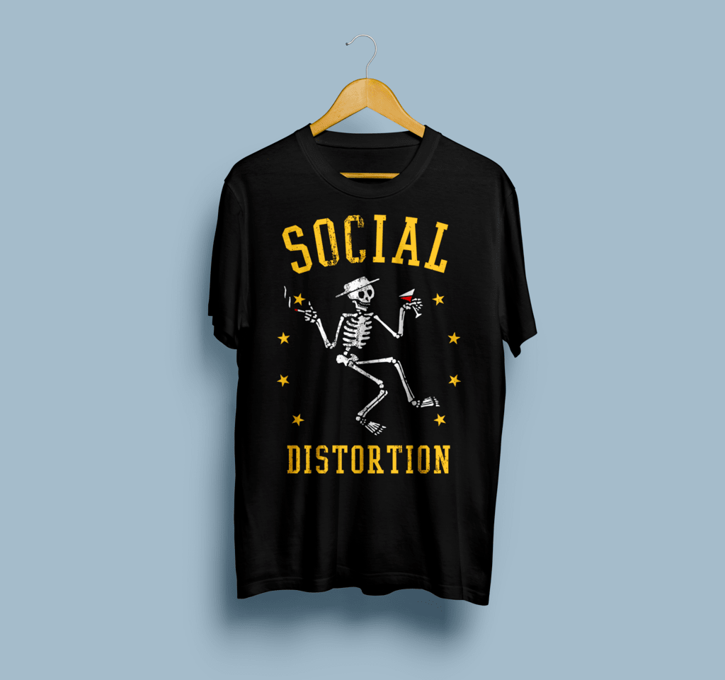 Camiseta Social Distortion - Vortex