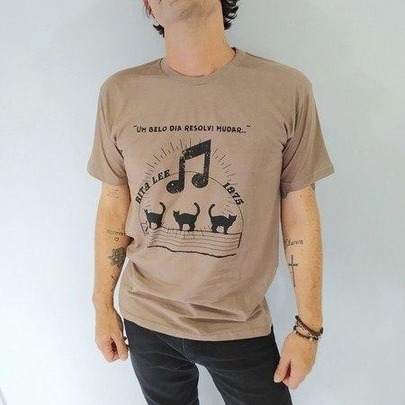 Camiseta Um belo dia resolvi mudar - Marrom Unissex