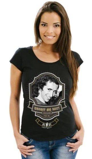 Camiseta Unissex AC/DC Bon Scott Premium