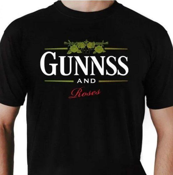 Camiseta Unissex Guns and Roses Guinness