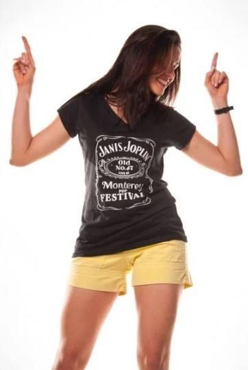 Camiseta Unissex Janis Joplin Jack Daniels