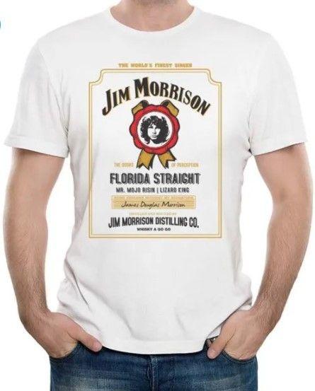 Camiseta Unissex Jim Morrison Whiskey