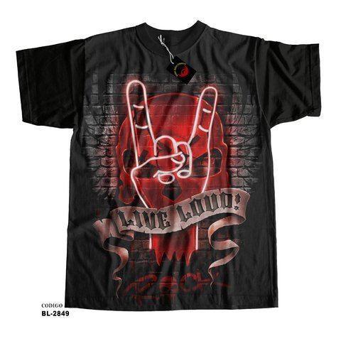 Camiseta Infantil Live Loud Rock