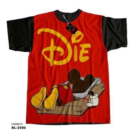 Camiseta unissex Mickey Mouse Morto / Mickey Mouse Die
