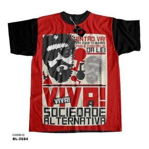 Camiseta Infantil Raul Seixas Sociedade Alternativa