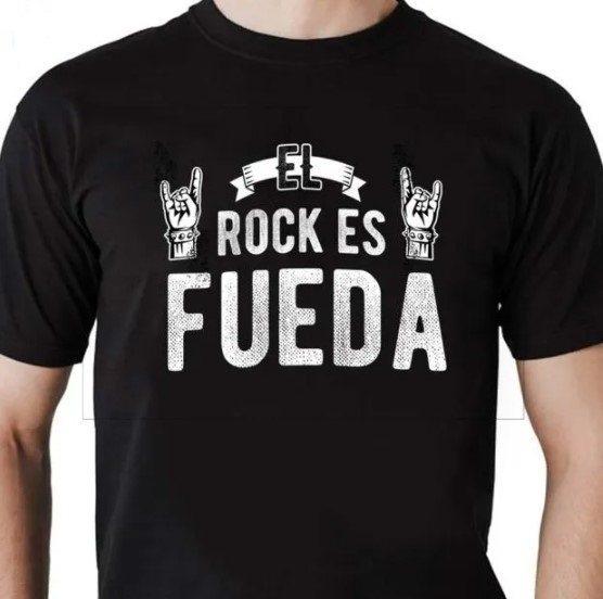 Camiseta Unissex Rock Es Fueda