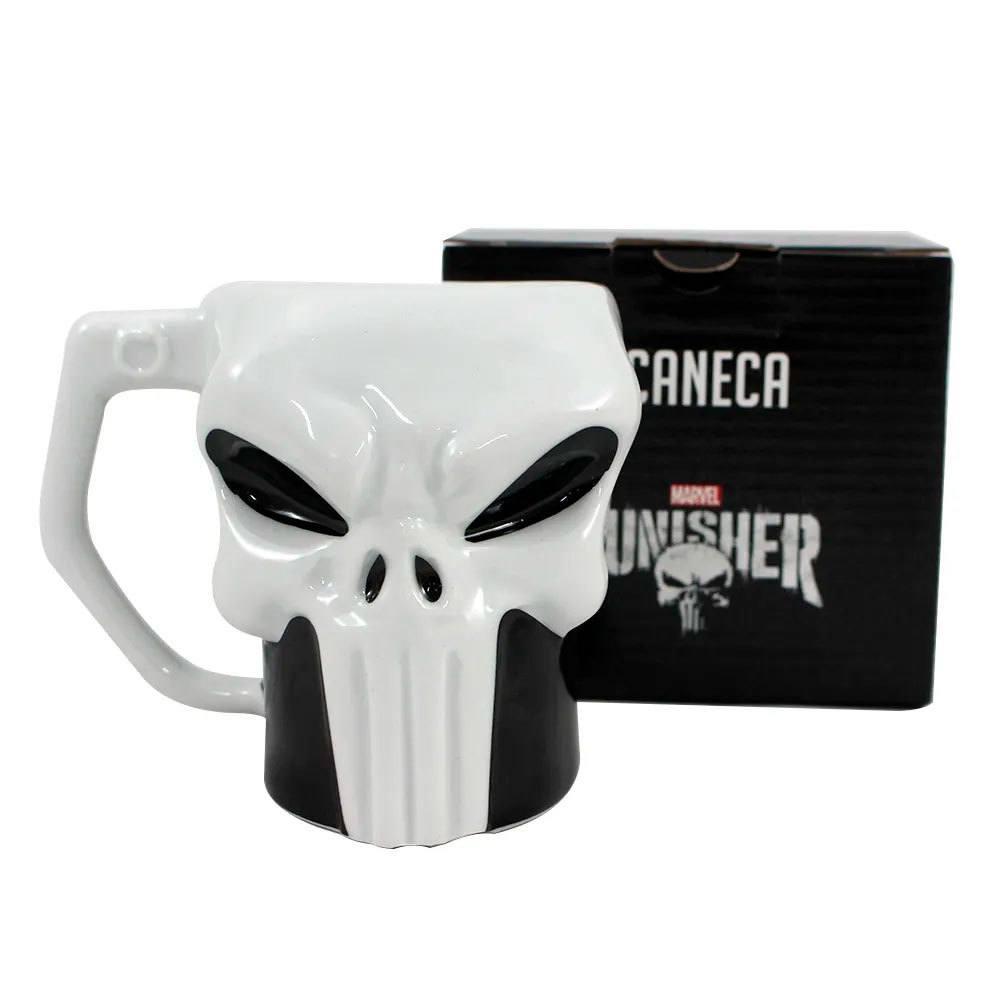Caneca 3D Formato Caveira Punisher Justiceiro Marvel