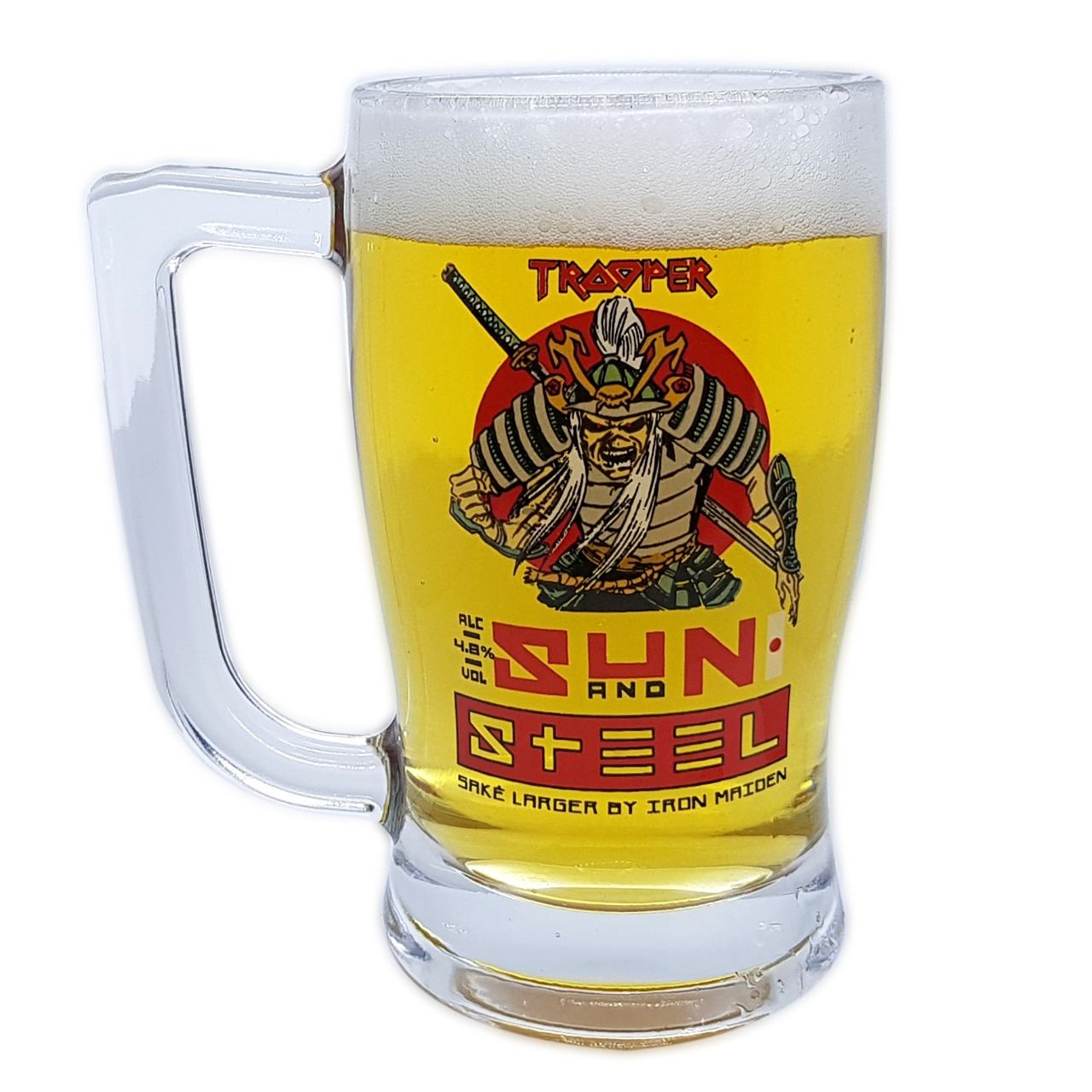 Caneca Cerveja Iron Maiden Trooper Sun And Steel 340ml