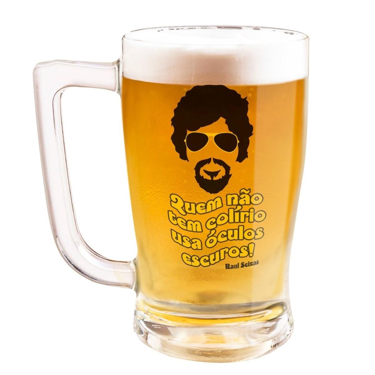 Caneca Cerveja Raul Seixas Óculos Escuro
