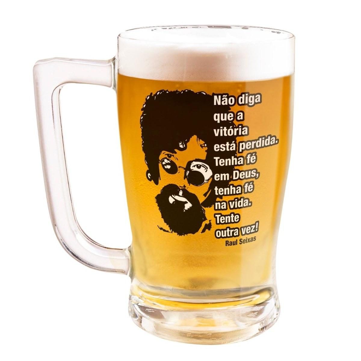 Caneca Cerveja Raul Seixas Tente Outra Vez