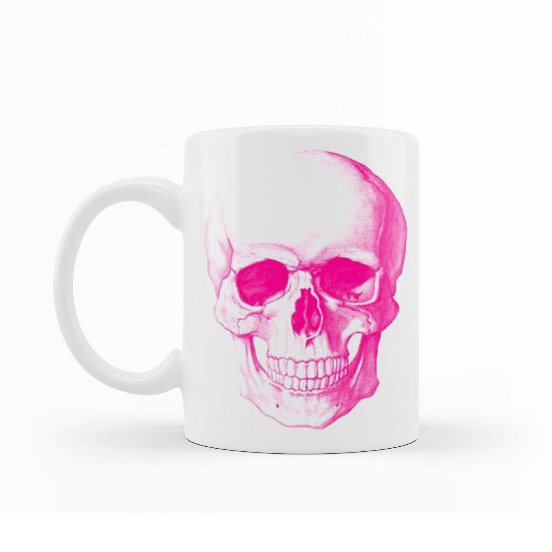 Caneca Crânio Caveira Rosa [PINK SKULL] - My Mug Collection