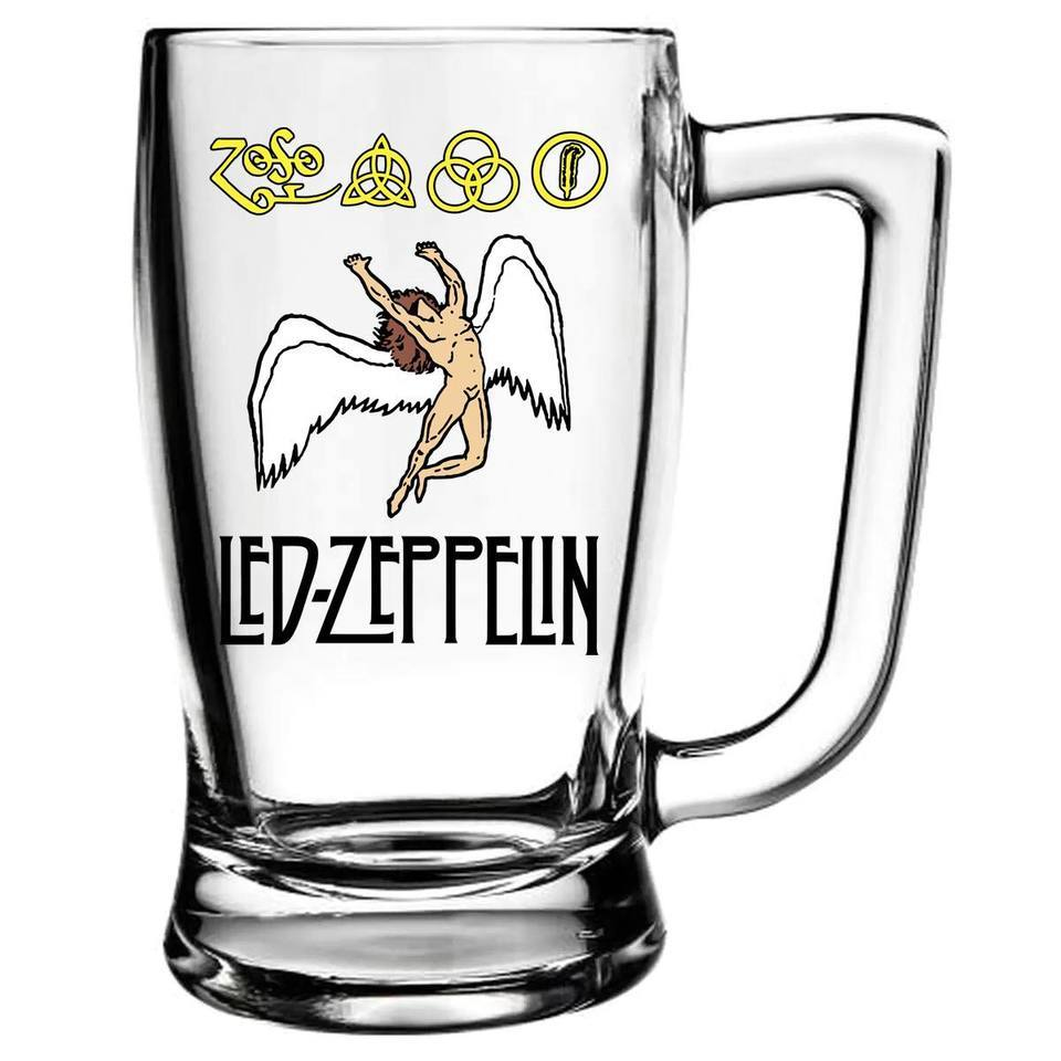 Caneca Led Zeppelin Cerveja Beer Chopp Banda De Rock 340ml