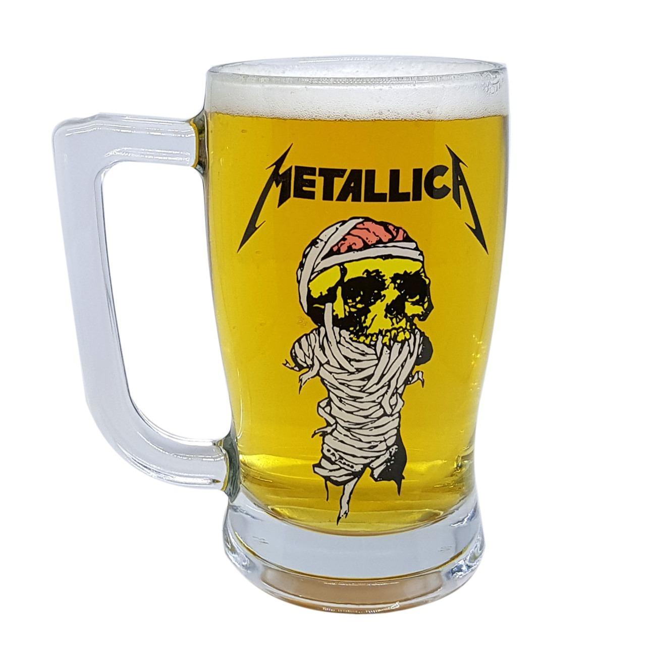 Caneca Metallica Cerveja Beer Taberna Banda De Rock 340ml