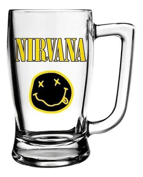 Caneca Nirvana Cerveja Beer Chopp Banda De Rock 340ml