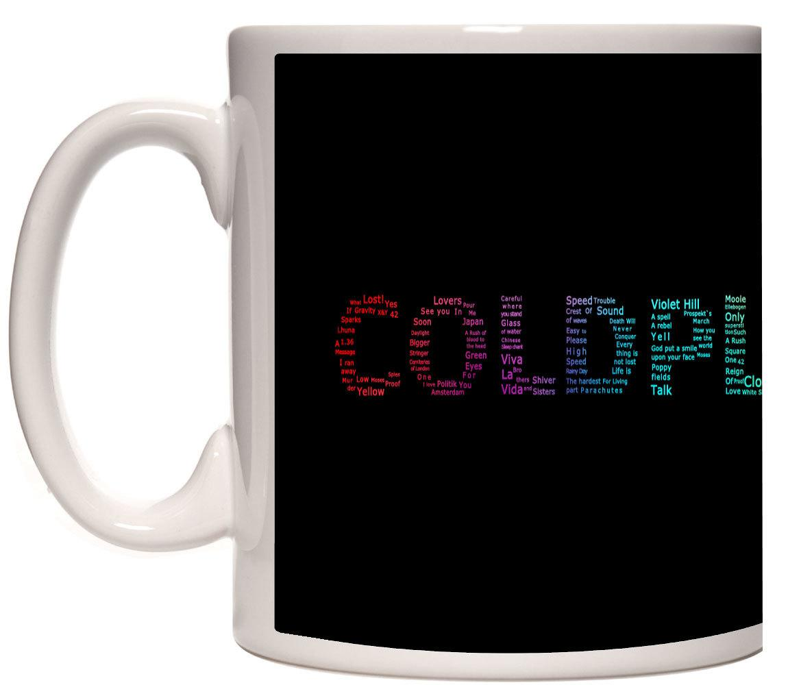 Caneca Porcelana Coldplay