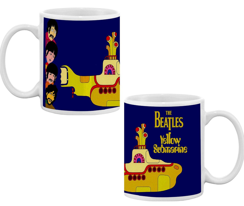 Caneca Porcelana The Beatles Yellow Submarine