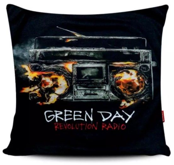 "Capa de Almofada Green Day - ""Revolution Radio"""