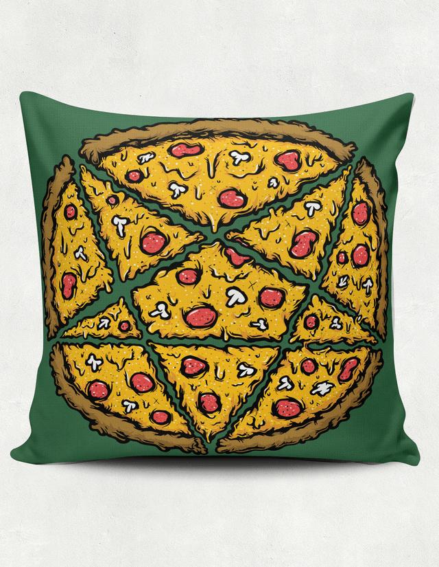 Capa de almofada Pentagrama Pizza - Vortex