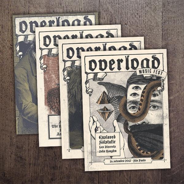 Cartões postais Overload Music Fest (kit com 4)