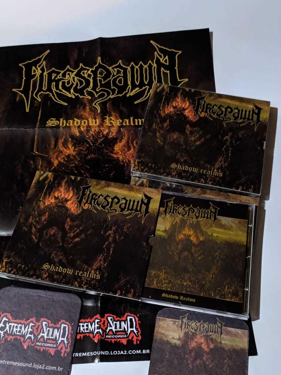 CD Firespawn - Shadow Realms ( Slipcase Brilho+pôster+Porta Copos)