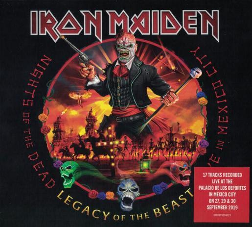 CD – IRON MAIDEN – NIGHTS OF THE DEAD – LIVE IN MEXICO – LEGACY OF THE BEAST (DIGIPACK + POSTER + ADESIVO)