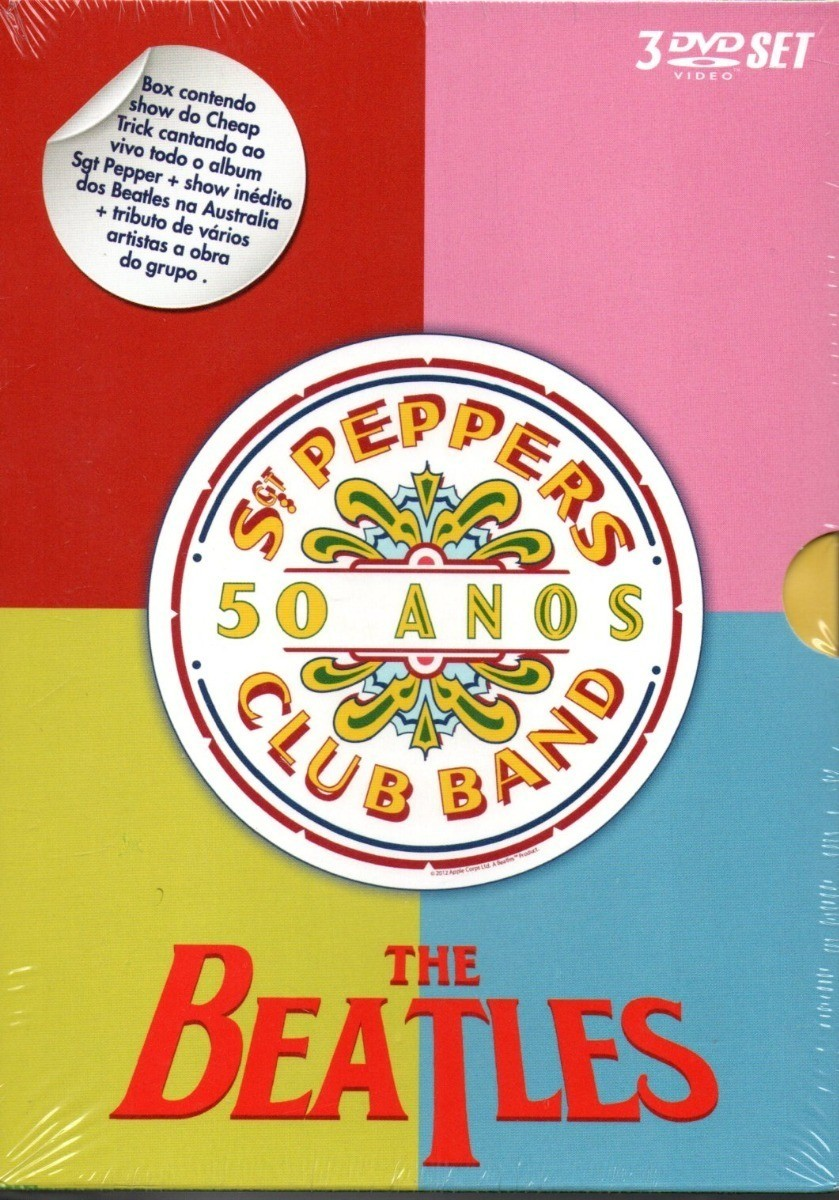 Dvd The Beatles - Sgt. Pepper's Club Band - 50 Anos (box 3 Dvds)