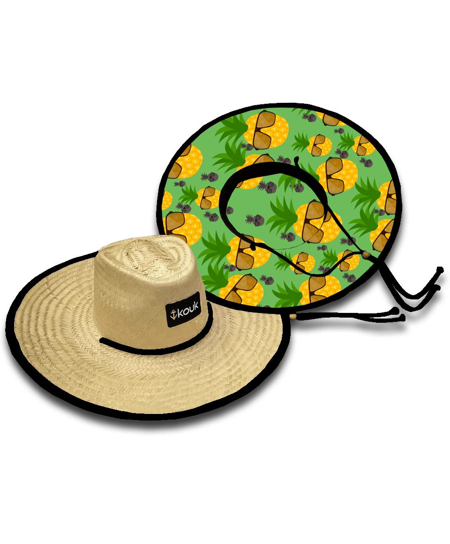Chapéu de Palha Abacaxi Style