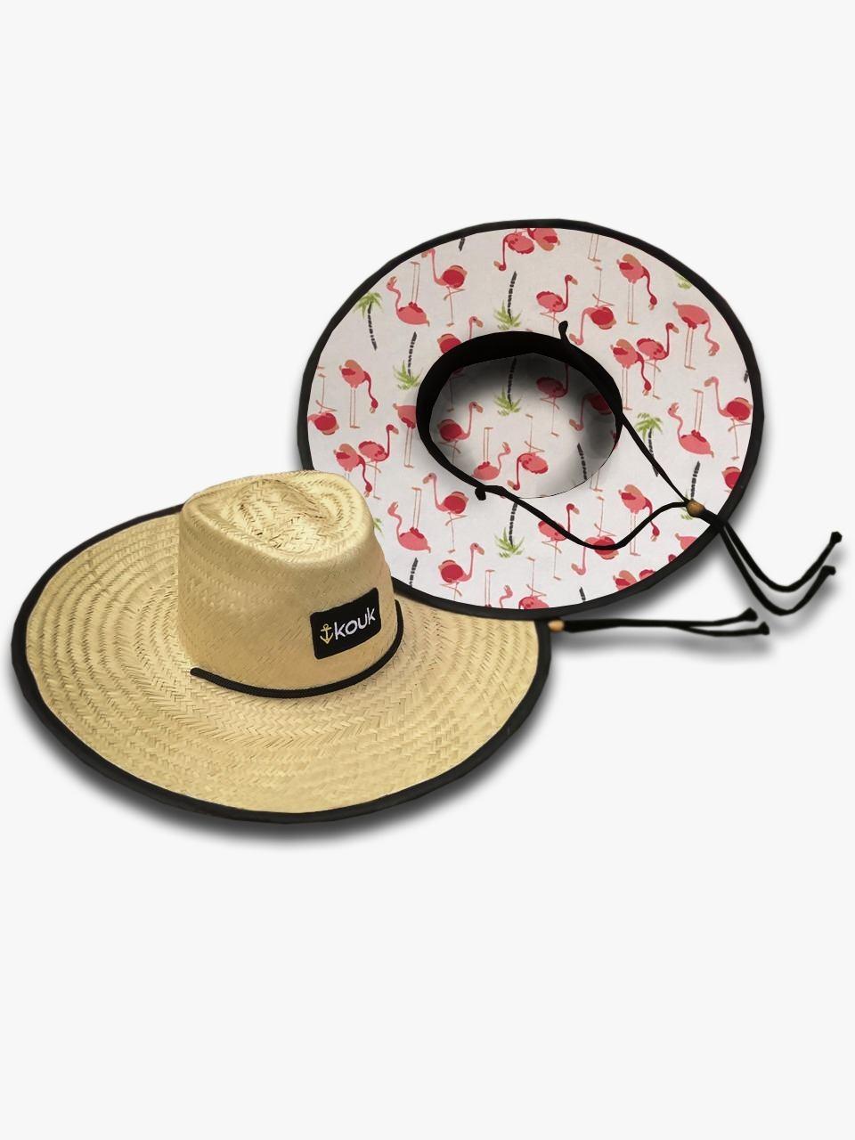 Chapéu de Palha Flamingo