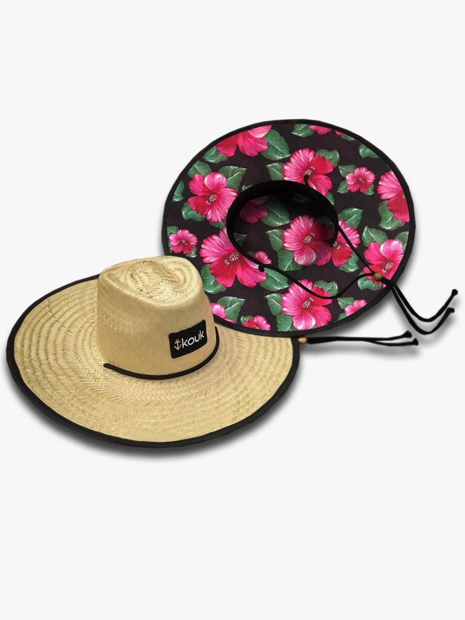 Chapéu de Palha Hibiscus