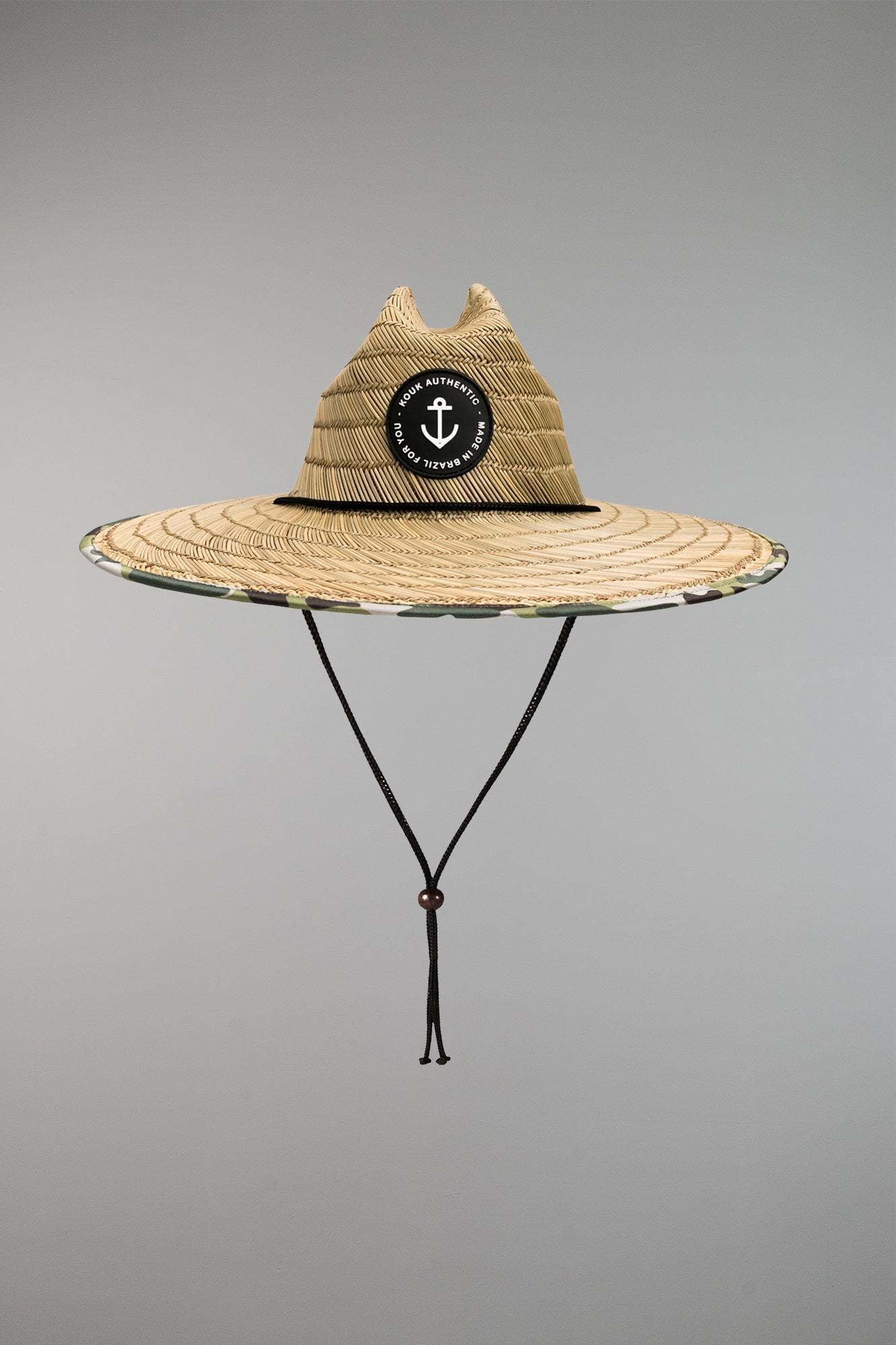 Chapéu de Palha Premium Camuflado