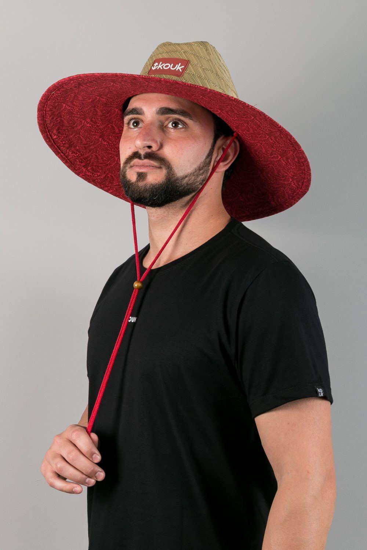 Chapéu de Palha Premium Red