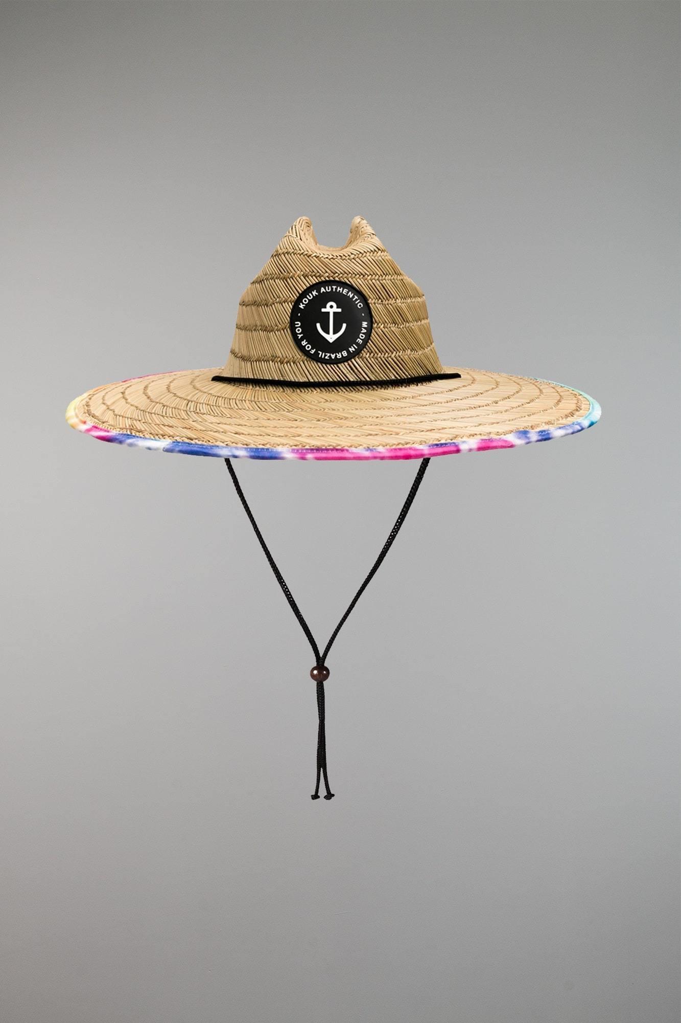 Chapéu de Palha Premium Tie Dry