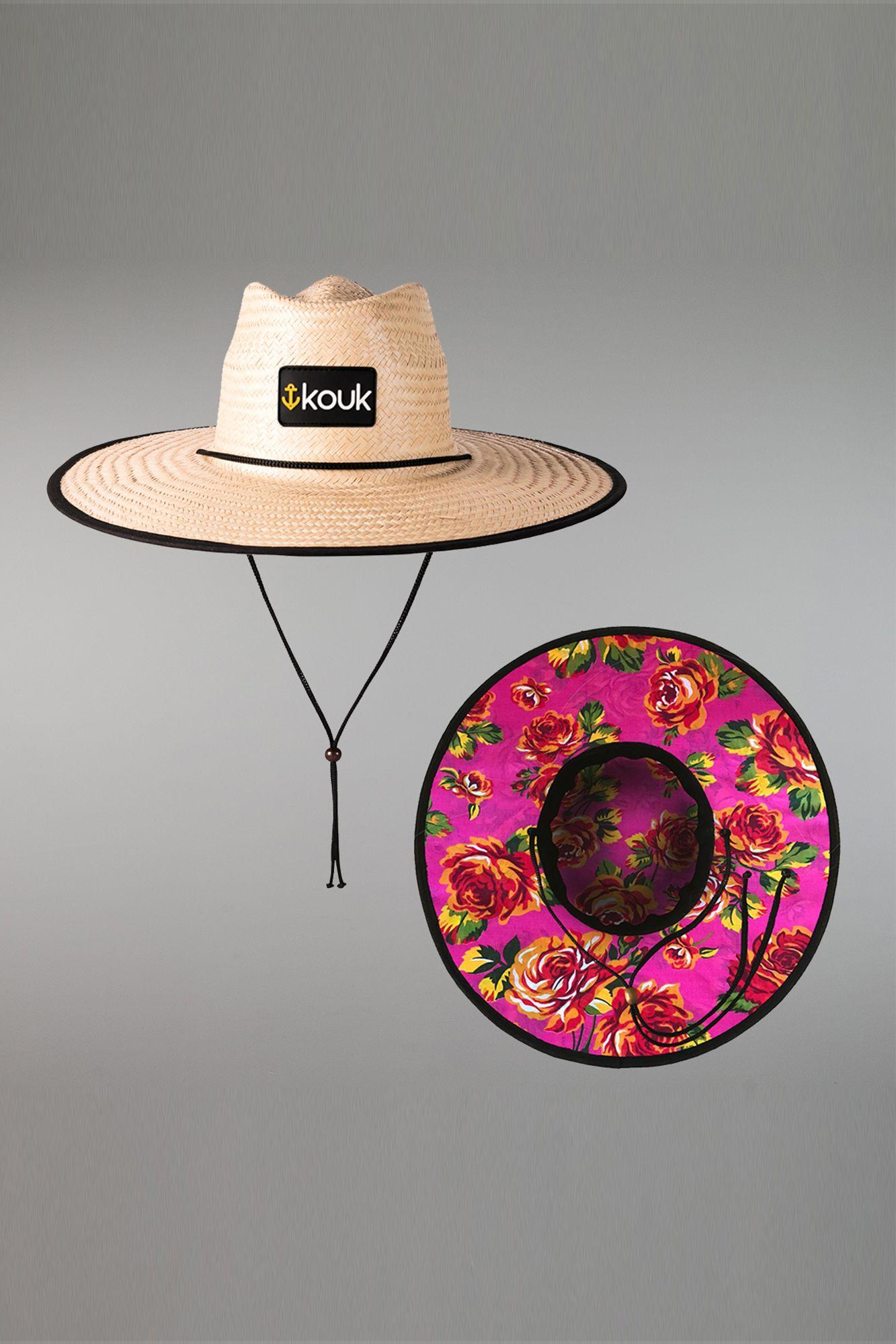 Chapéu de Palha Rosa