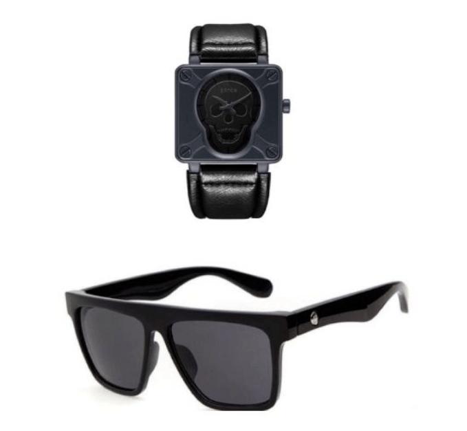 Combo Skull Sword Ilhabela : Óculos com proteção UV e  relógio à prova d´água