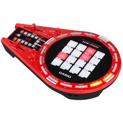 Controlador CASIO Trackformer XW-PD1 sintetizador sequenciador sampler e efeitos